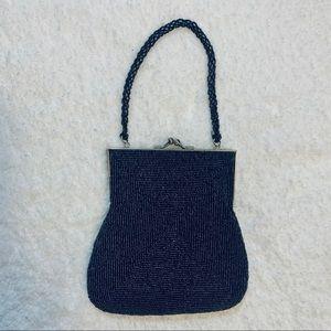 Express Black Beaded Evening Bag Small Purse